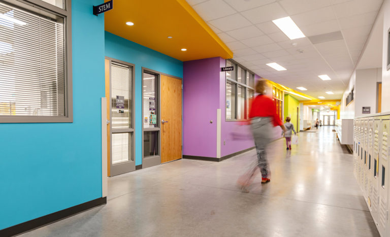 Multicolor hallway