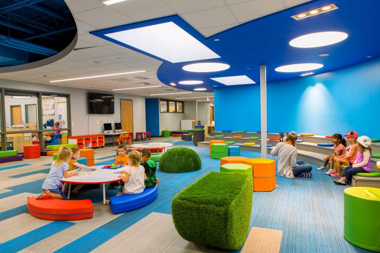 Open mixed learning preschool space