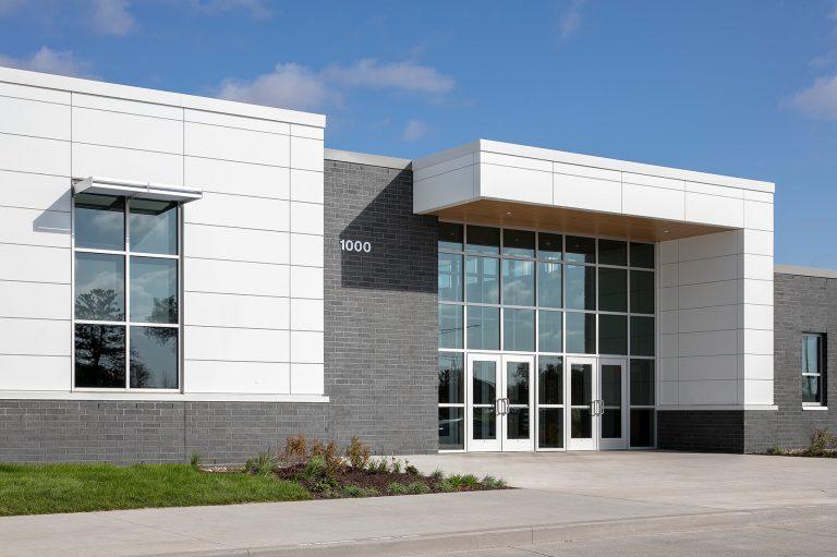 Closeup of exterior front entrance