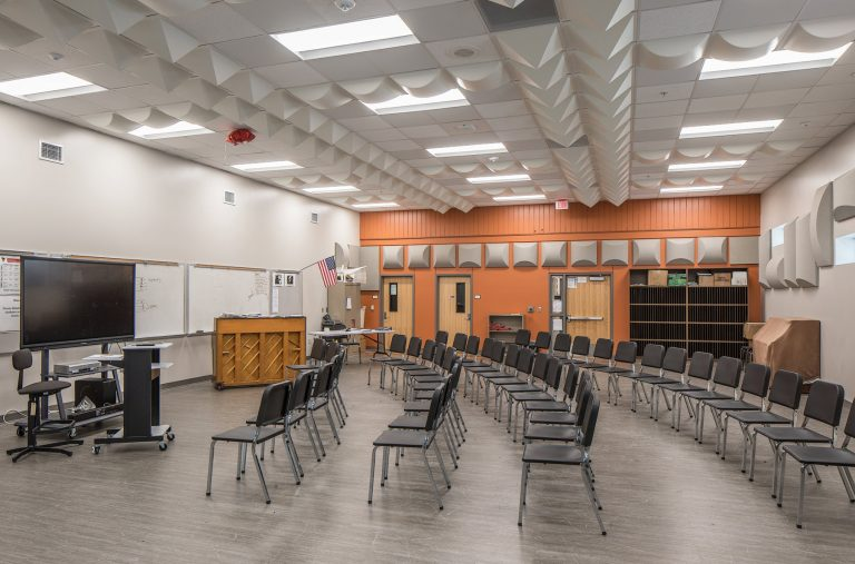 Music room with chairs