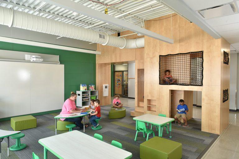Preschool Classroom with reading nooks