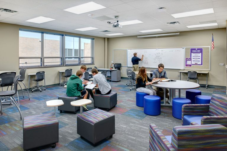 Classroom with flexible seating