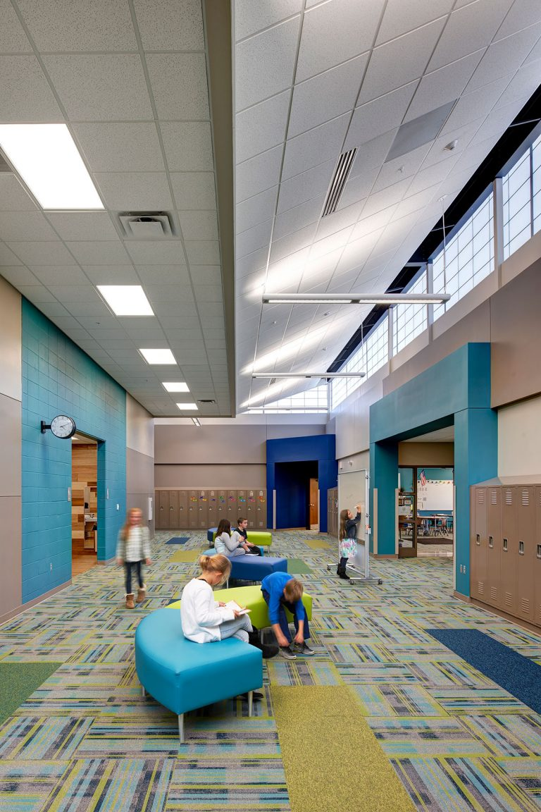 Corridor with breakout space