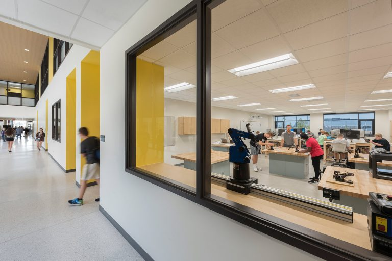 Hallway view of classroom