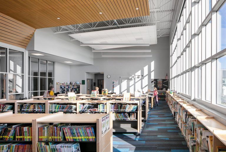 Interior Media Center space with abundant daylight