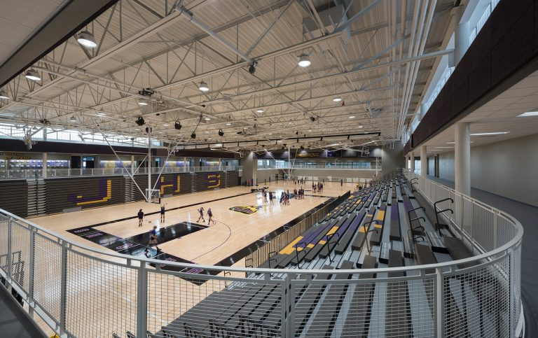 Gymnasium view from upper track
