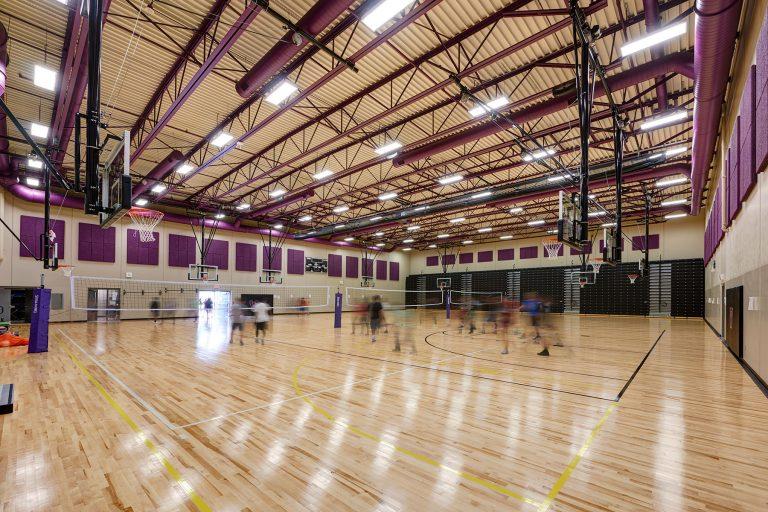 Spacious gymnasium