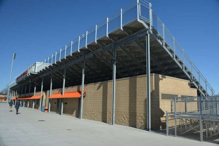Home side concessions under bleachers