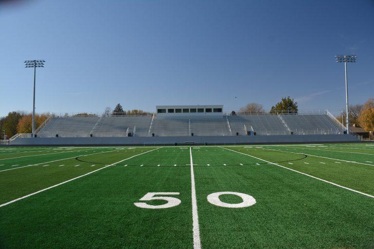 Football field artificial turf