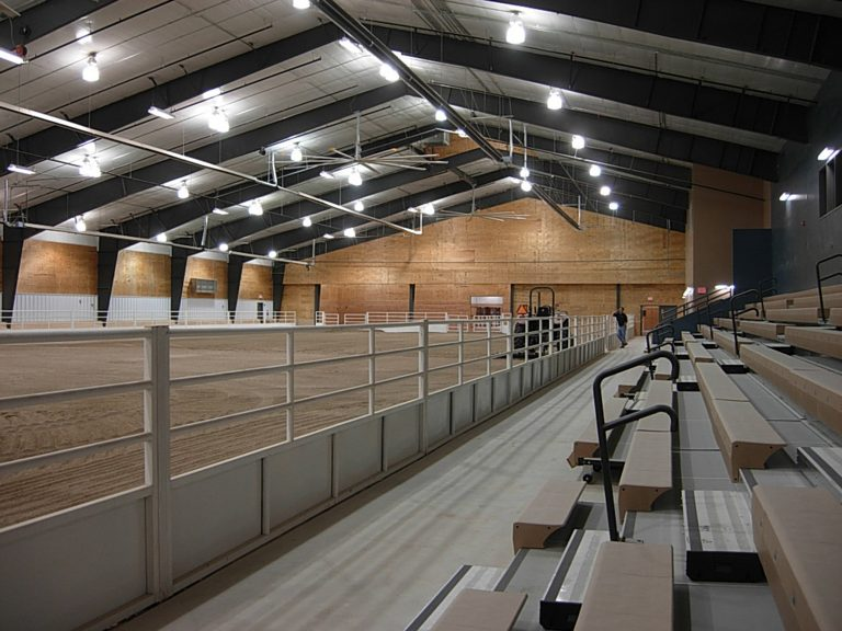 Interior livestock arena
