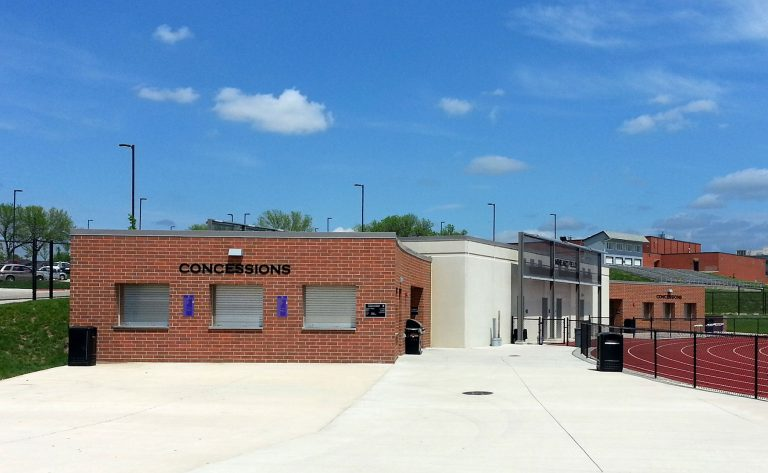 Concessions stand building