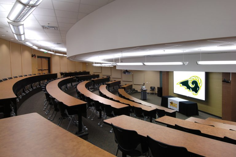 Tiered lecture hall