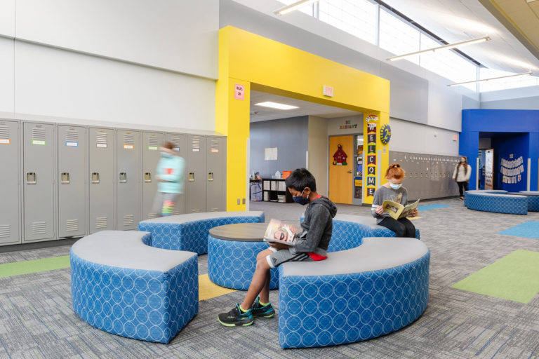 Collaborative space with soft seating